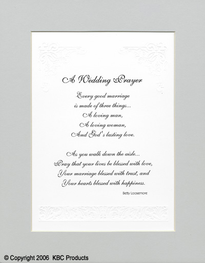 Sample Wedding Prayer On Reception Prayers All About