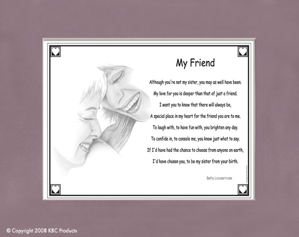 A poem for a good friend
